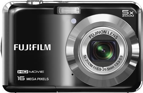 Fujifilm - FinePix AX660 16.0-Megapixel Digital Camera - Black