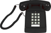 Cortelco - Corded Desk Phone - Black