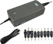 Lenmar - 90W AC Laptop Power Adapter with USB Output - Charcoal