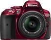 Nikon - D5300 DSLR Camera with 18-55mm VR Lens - Red
