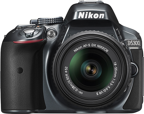 Nikon - D5300 Dslr Camera with 18-55mm VR Lens - Gray