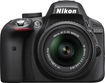 Nikon - 24.2 Megapixel Digital SLR Camera (Body with Lens Kit) - 18 mm - 55 mm - Black