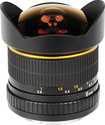 Bower - 12mm f/3.5 Super-Wide-Angle Fish-Eye Lens for Most Nikon F DSLR Cameras - Black