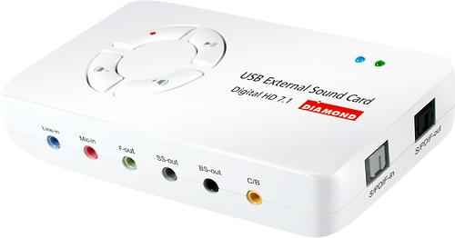 Diamond Multimedia - Xtreme Sound 7.1 USB Audio Device - White