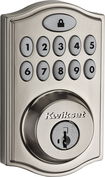 Kwikset - 914 SmartCode Touchpad Electronic Deadbolt Lock - Satin Nickel