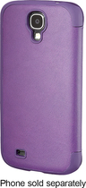 Platinum - Leather Flip Case for Samsung Galaxy S 4 Cell Phones - Purple
