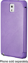 Platinum - Leather Flip Case for Samsung Galaxy Note 3 Cell Phones - Purple