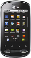LG - Optimus Mobile Phone (Unlocked) - Black/Gray