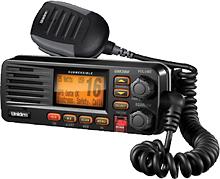 Uniden - Solara Class D DSC VHF Marine Radio - Black