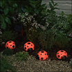 Smart Solar - Ladybug Solar-Powered Light Set - Red