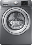 Samsung - 4.2 Cu. Ft. 9-cycle High-efficiency Steam Front-loading Washer - Platinum 3458015