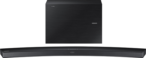 Samsung - 6.1-Channel Curved Soundbar with 7 Wireless Subwoofer - Black