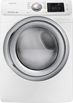 Samsung - 7.5 Cu. Ft. 11-Cycle Steam Gas Dryer - White