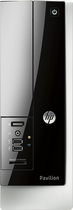 HP - Pavilion Slimline Desktop - AMD E1-Series - 4GB Memory - 500GB Hard Drive - Gray/Black
