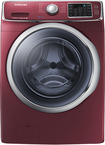 Samsung - 4.2 Cu. Ft. 11-Cycle High-Efficiency Steam Front-Loading Washer - Merlot