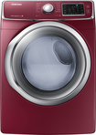 Samsung - 7.5 Cu. Ft. 13-Cycle Steam Electric Dryer - Merlot