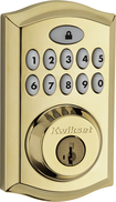Kwikset - 914 SmartCode Touchpad Electronic Deadbolt Lock - Polished Brass