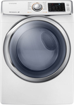 Samsung - 7.5 Cu. Ft. 13-Cycle Steam Gas Dryer - White