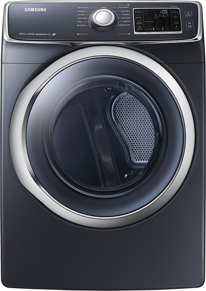 Samsung - 7.5 Cu. Ft. 13-Cycle Steam Gas Dryer - Onyx