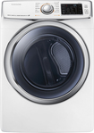 Samsung - 7.5 Cu. Ft. 13-Cycle Steam Electric Dryer - White