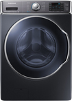 Samsung - 5.6 Cu. Ft. 15-Cycle High-Efficiency Steam Front-Loading Washer - Onyx
