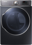 Samsung - 9.5 Cu. Ft. 15-Cycle Steam Gas Dryer - Onyx