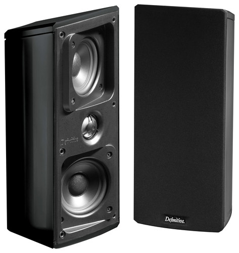 Definitive Technology - Mythos GEM Dual 3-1/2 Bookshelf Speakers (Pair) - Black