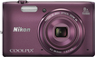 Nikon - Coolpix S5300 16.0-Megapixel Digital Camera - Plum