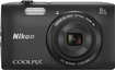 Nikon - Coolpix S3600 20.0-Megapixel Digital Camera - Black
