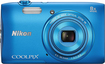Nikon - Coolpix S3600 20.0-Megapixel Digital Camera - Blue