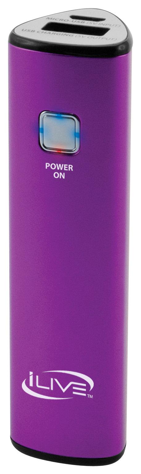 iLive - USB Portable Power Charger - Purple