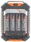 EnerPlex - Jumpr Quad NiMH AA/AAA Battery Charger - Gray/Orange