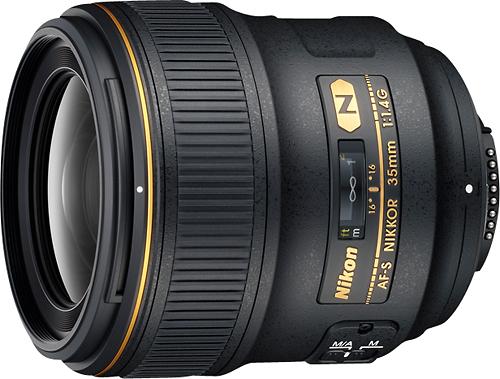 Nikon - AF-S NIKKOR 35mm f/1.4G Wide-Angle Lens - Black