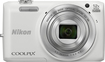Nikon - Coolpix S6800 16.0-Megapixel Digital Camera - White