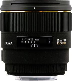 Sigma - 85mm f/1.4 EX DG HSM Digital Lens for Select Sony Cameras - Black