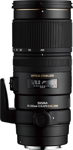 Sigma - 70-200mm f/2.8 EX DG APO OS HSM Telephoto Zoom Lens for Nikon - Black