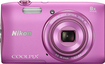 Nikon - Coolpix S3600 20.0-Megapixel Digital Camera - Pink