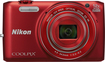 Nikon - Coolpix S6800 16.0-Megapixel Digital Camera - Red