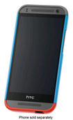 HTC - Double Dip Hard Case for HTC One Mini 2 Cell Phones - Blue