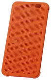 HTC - Dot View Case for HTC One (E8) Cell Phones - Orange Popsicle