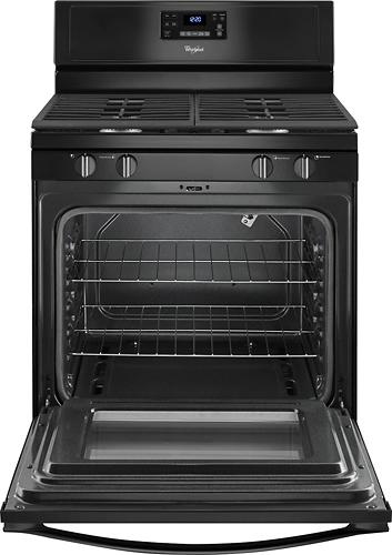 "Whirlpool WFG515S0EB 30"" Self-Cleaning Freestanding Gas Range Black"