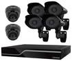 Defender - PRO SENTINEL 8-Channel, 6-Camera Indoor/Outdoor Surveillance System - Black