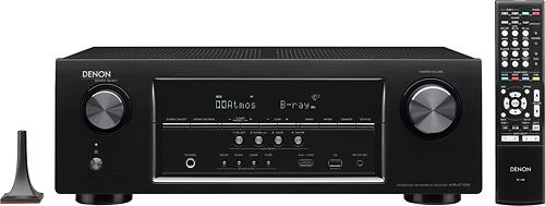Denon - 1155W 7.2-Ch. 4K Ultra HD and 3D Pass-Through A/V Home Theater Receiver - Black