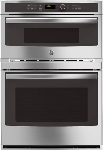 GE - 30 Single Electric Wall Oven with Built-In Microwave - Stainless Steel