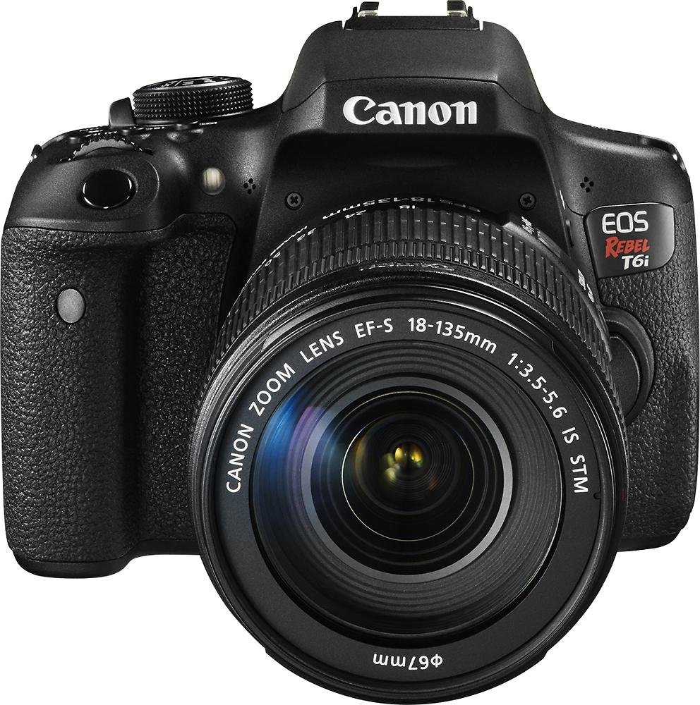 Canon - Eos Rebel T6i Dslr Camera With Ef-s 18-135mm Is Stm Lens - Black