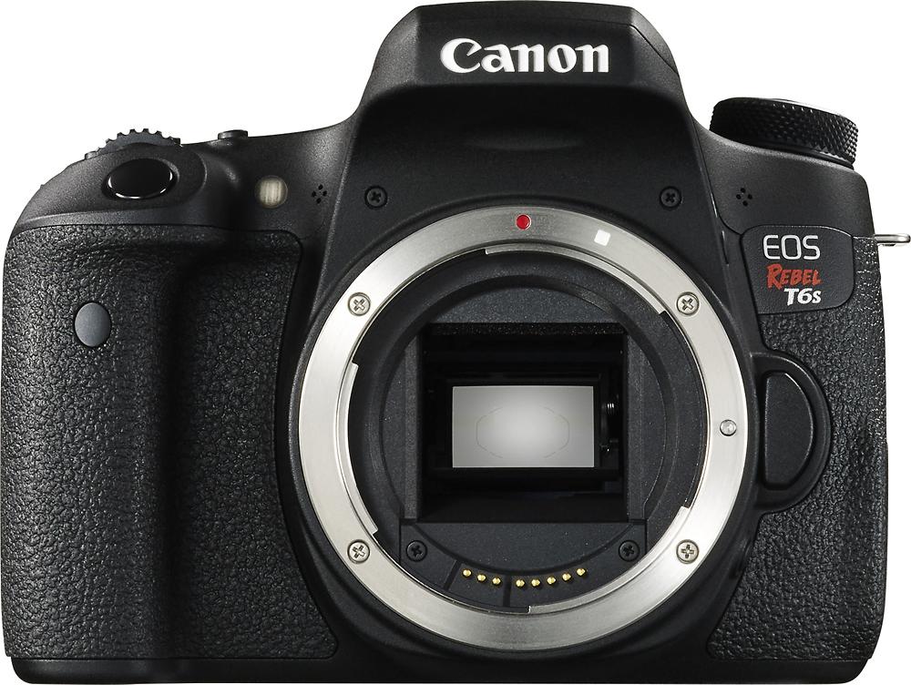 Canon - EOS Rebel T6s DSLR Camera (Body Only) - Black