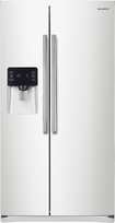 Samsung - 24.5 Cu. Ft. Side-by-Side Refrigerator with Thru-the-Door Ice and Water - White