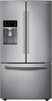 Samsung - 22.5 Cu. Ft. Counter-Depth French Door Refrigerator with Thru-the-Door Ice and Water - Stainless-Steel