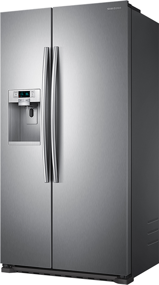 Samsung Side By Side samsung 22 3 cu ft counter depth side by side refrigerator with