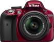 Nikon - D3300 DSLR Camera with 18-55mm VR Lens - Red